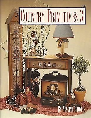 Country Primitives Tole Folk Art Painting Book 3 - Maxine Thomas