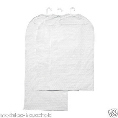 PLURING SET 3 CLOTHS DRESS PROTECTOR COVER  PACKED TRANSPARENT WHITE -b786