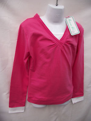 BNWT Girls Sz 14 Pretty Hot Pink Long Sleeve Layer Top