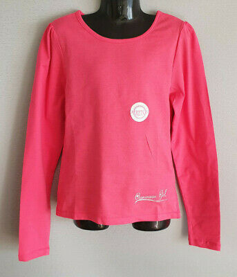 BNWT Girls Sz 16 Ozemocean Cute Hot Pink Long Sleeve Stretch Top