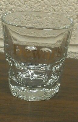 Dewars Scotch Whiskey Whisky Rocks Shooter Glass Liquor Multi Faceted