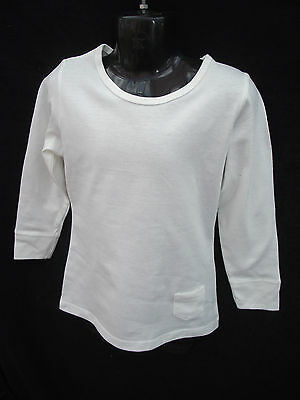 BNWT Girls Sz 7 Rivers Doghouse Brand Cute Cream Long Sleeve Round Neck Top