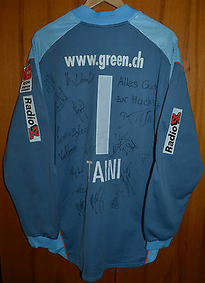 Zurich Switzerland Match Worn Or Issue Goalkeeper Football Shirt Jersey #1 Taini