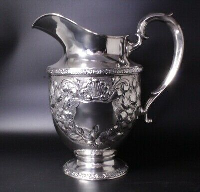 Fisher Rose Bouquet Sterling Silver Water Pitcher No monogram