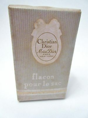 SEALED VINTAGE CHRISTIAN DIOR MISS DIOR .125 1/8 fl oz FLACON POUR LE SAC NEW!