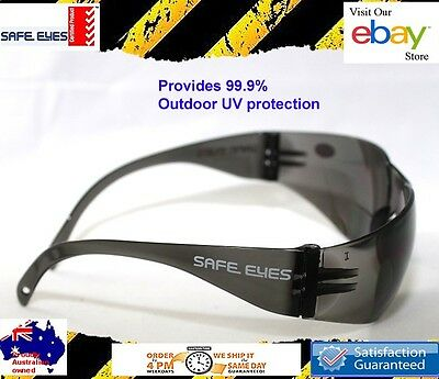 30x pairs  Safety Glasses grey smoke lens bulk buy Safety sunglasses