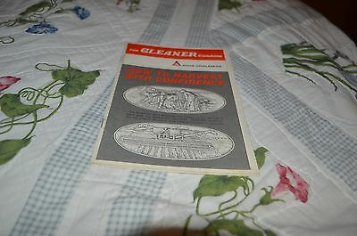 Allis Chalmers Gleaner Combine How to Harvest With Conf Dealer's Brochure DCPA5