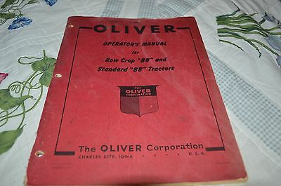 Oliver 88 Tractor Operator's Manual DCPA5