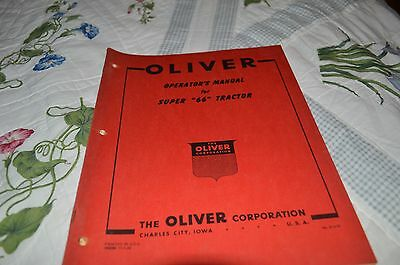 Oliver Super 66 Tractor Operator's Manual DCPA5