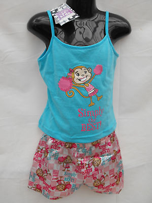 ~BNWT Girls Sz 5 Cute Cheeky Monkey Summer Pyjama Set