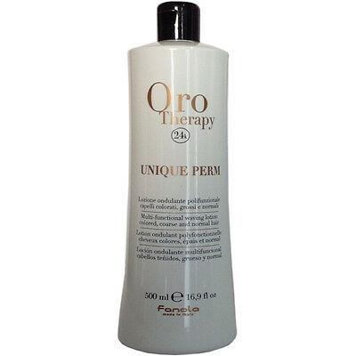 Unique Perm Waving Lotion 500ml 24k Oro Therapy ® Ondulante Polifunzionale