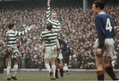 """Celtic """"Lisbon Lions 1967"""" 12 x 8 inch photo personally signed by Bertie Auld."""