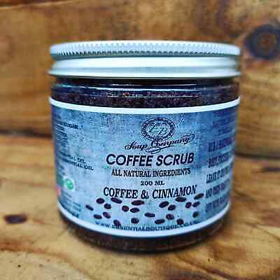 Coffee Body Scrub Handmade 100% Natural Vegan Reduce Cellulite Stretch Mark Acne