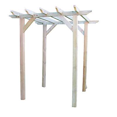 2.4m x 1.8m NOTCHED  Wooden  Timber Garden Pergola NEW - various post lengths