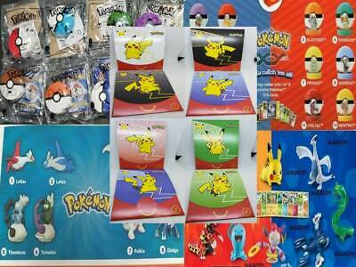 McDonald's POKEMON 2018, 2015 & 2014 - Choose your toy - NEW - FREE SHIPPING