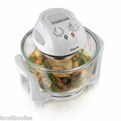 ELGENTO E14020 12L HALOGEN OVEN MULTIFUNCTION COOKING ENERGY SAVING 1300W New