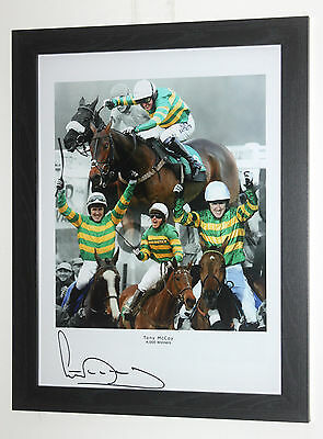 Signed and framed AP Tony McCoy photo montage '4000 winners'