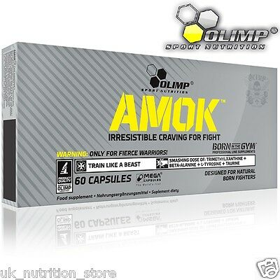 OLIMP Amok Power 60 Mega Caps Pre-workout Energy Booster Extreme Condition