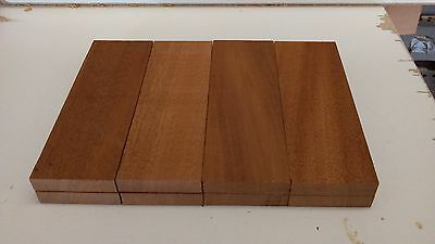 Knife Scales Blanks - 4 Sets (Mahogany, Beech, Hard Maple, Cherry)