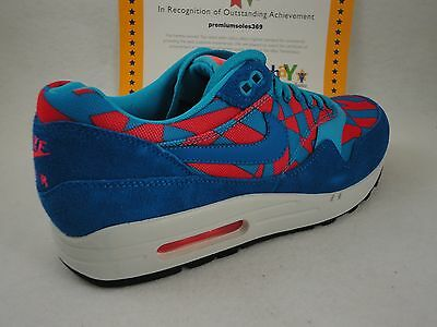 competitive price d22e9 01807 Nike Air Max 1 GPX, Blue Lagoon   Bright Crimson, Suede, DS Size