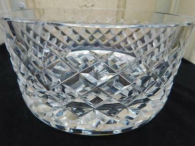 Waterford Diamond Shaped Cut Crystal  Facets Bowl