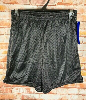 BNWT Girls/Boys Sz 6 LW Reid Black Elastic Waist Mesh Style School Sports Shorts