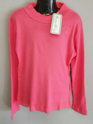 BNWT Girls Size 8 Cute Hot Pink Ozemocean Brand Stretch Long Sleeve Skivvy Top