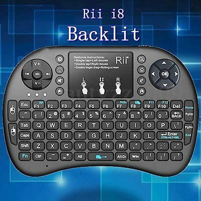 Rii i8+ wireless Keyboard with touchpad for PC/android box WITH BACKLIT Black