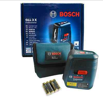 Genuine BOSCH Professional GLL3X Self Level Cross Line Laser GLL 3X