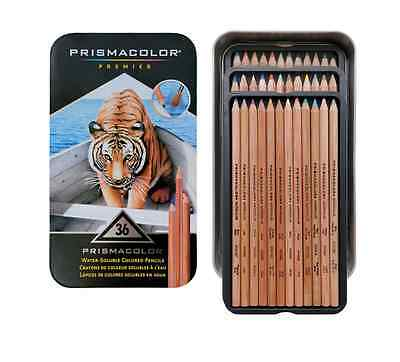 Prismacolor Premier Water-Soluble Colored Pencil Set, 36 Colors