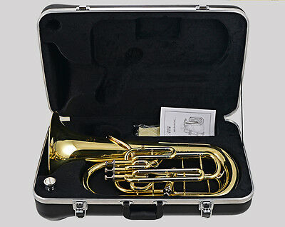 Professional Gold Cupronickel Bb Euphonium 3+1 pistons horn with case