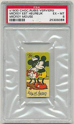 """1930 Rubis Mickey Mouse """"Mickey is Happy"""" PSA 6 Pop. 1, one higher RARE (B&BEnt)"""