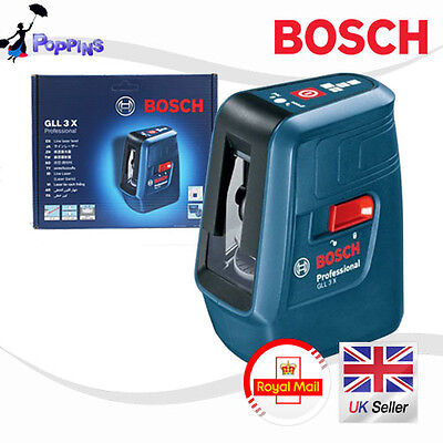 New BOSCH Professional GLL3X Self Level Cross Line Laser  GLL 3X UK Stock