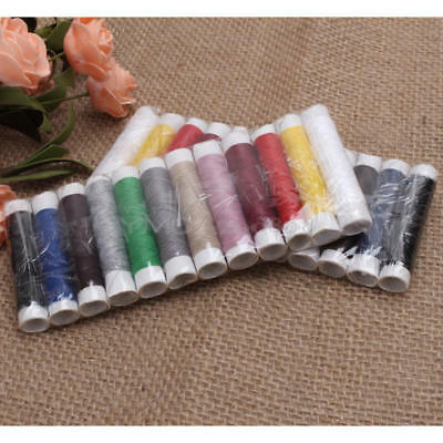 2 Sets 24 Spools Polyester Sewing Thread For Hand Machine 12 Assorted Color