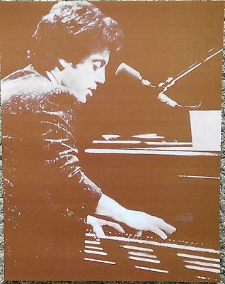 """""""Piano Man"""" Billy Joel In His Youth Sepia Poster"""