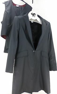 Reed Hill Ladies Saddleseat suit Navy Pin polyester size 14 - USA