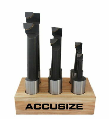 1''   6 Pcs/Set Carbide Tipped Boring Bar Set in wooden stand, #0375-0999