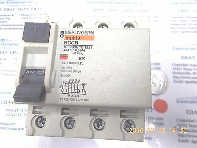 Merlin Gerin Multi9 RCCB Circuit Breaker 4-pole 40A 415V