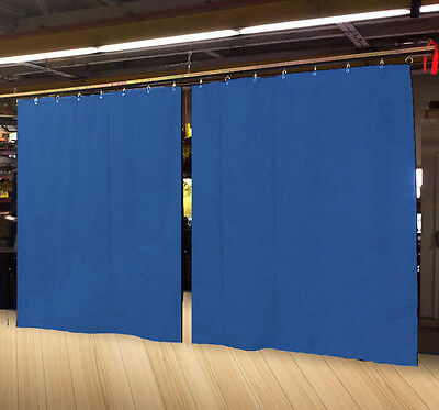 Lot of (2) Economy Royal Blue Curtain Panel/Partition 15 H x 4½ W, Non-FR