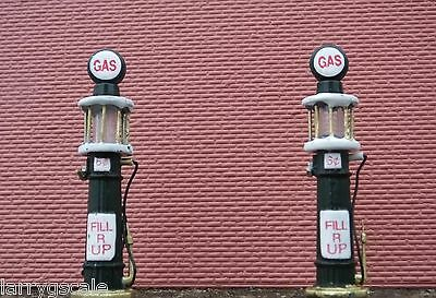 Gas Pumps (2) Diecast O Scale Vintage 1920's Style Diorama Accessory Items