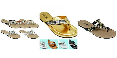 Womens Shoe Size 10 Flip Flop Gold Silver Brown White Choose Color and Pattern