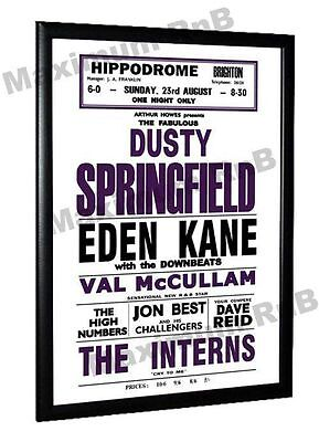 The Who High Numbers Dusty Springfield Brighton Hippodrome Concert Poster 1964
