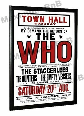 The Who Torquay Town Hall Concert Torquay Devon Poster 1966