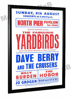 The Yardbirds Dave Berry 1965 Concert Poster Blackpool