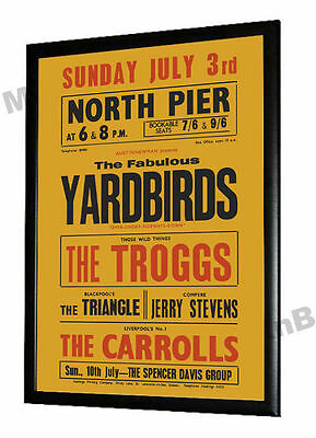 The Yardbirds Troggs 1966 Concert Poster Blackpool