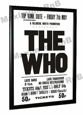 The Who Concert Poster Top Rank Sunderland 1971