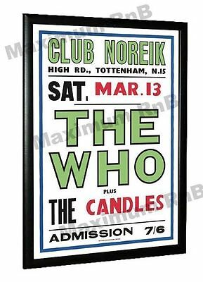 The Who Concert Poster, Club Noreik London 1965