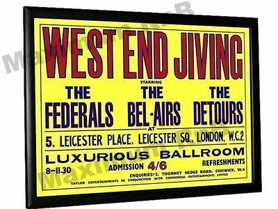 The Who Detours Concert Poster West End Jiving Leicester Square London 1963