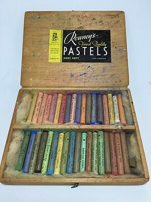Vintage Artist Pastel Very Soft Chalks Rowney's Made In England