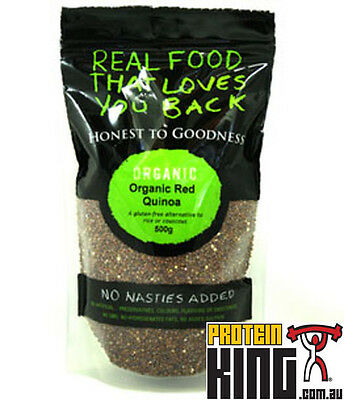*sale* Honest To Goodness 500G Organic Red Quinoa Gluten Free Grain Exp 12/17